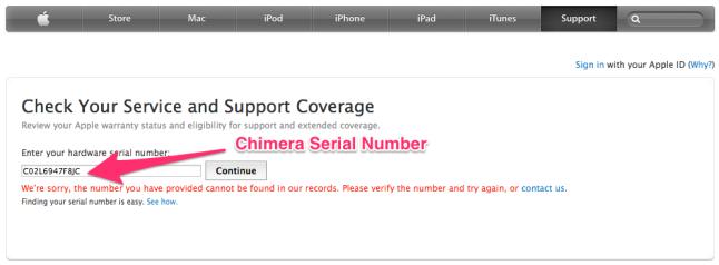 Chimera_serial_number