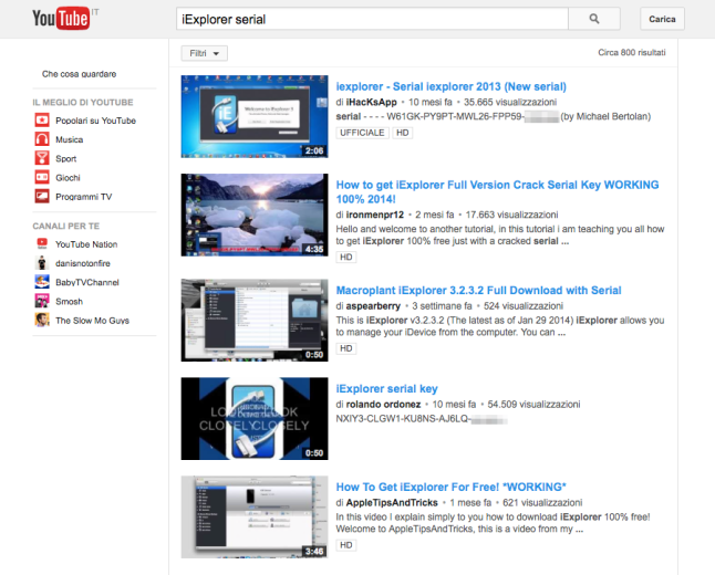 iExplorer_serial_YouTube